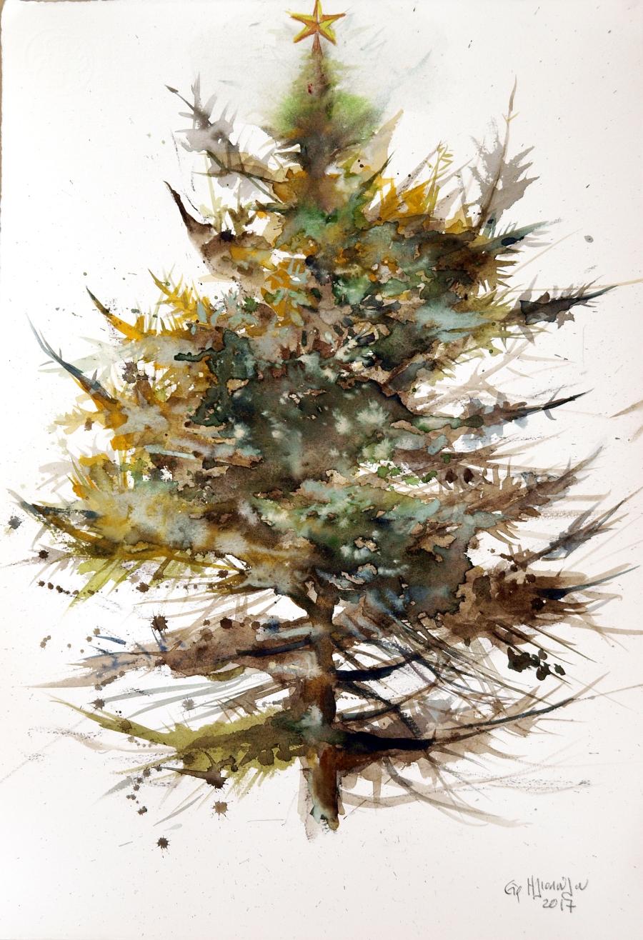Χριστουγεννιάτικο δέντρο των ζωγράφων, έλατο Ειρήνης Ηλιοπούλου.