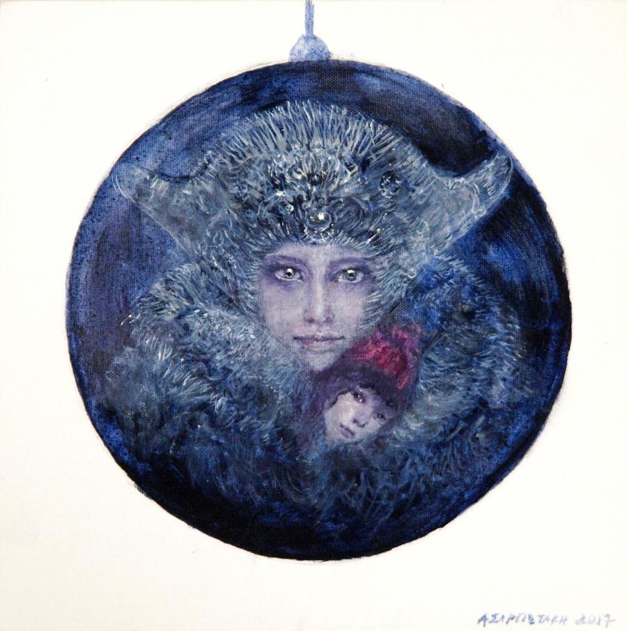 Χριστουγεννιάτικο δέντρο των ζωγράφων, στολίδι Καλλιόπης Ασαργιωτάκη.