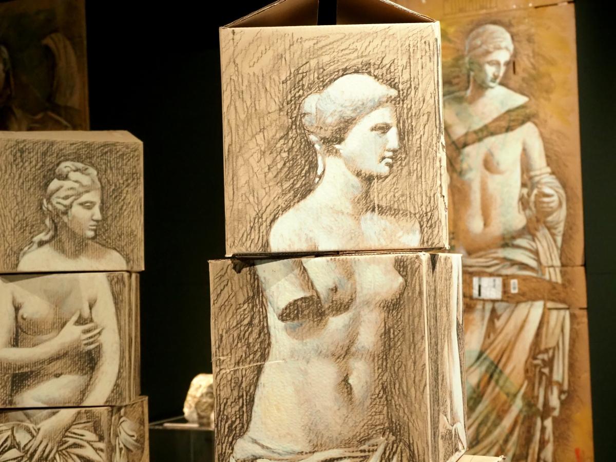 Έργο του Παύλου Σάμιου από την έκθεση στο Βυζαντινό Μουσείο.